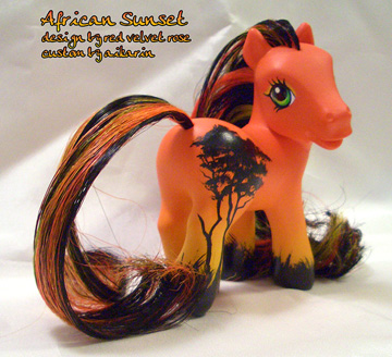 african sunset custom pony