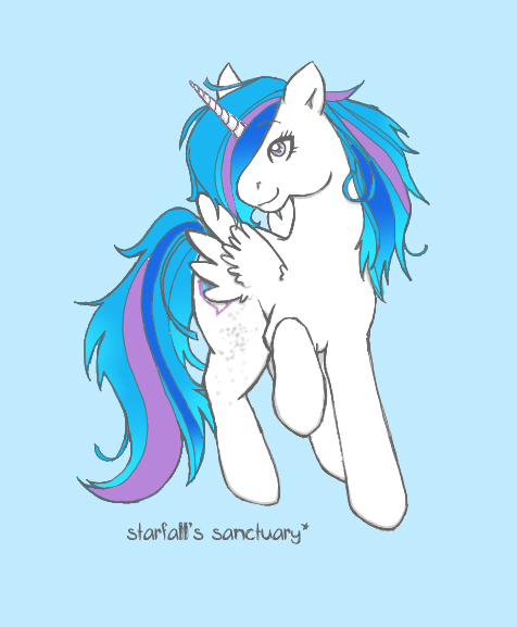 a gorgeous color drawing of starfall as an alicorn - Starfall Color
